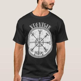 Camiseta Stave islandês do compasso de VEGVISIR