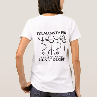 Camiseta Stave mágico de Draumstafir (preto)