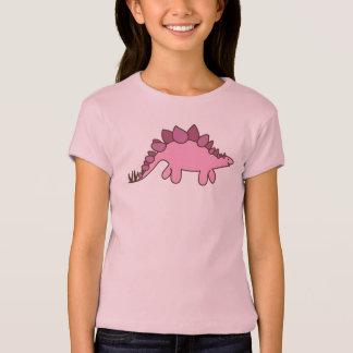 Camiseta Stegosaurus cor-de-rosa