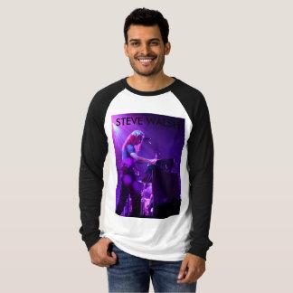 Camiseta Steve Sleeved longo no t-shirt do concerto