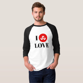 Camiseta StumbleUpon 3/4 de t-shirt do Raglan da luva