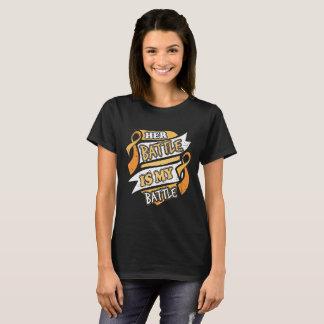 Camiseta Sua batalha é meu cancer do apêndice da batalha