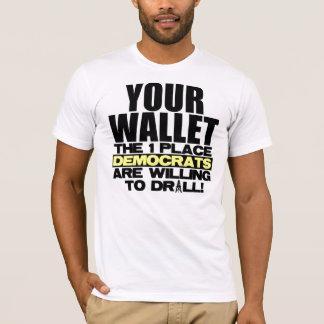 Camiseta Sua carteira - onde Democratas furarão