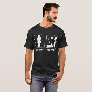 Camiseta Sua esposa meu Tshirt orgulhoso Blogging da esposa