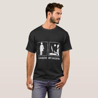 Camiseta Sua filha meu Tshirt orgulhoso Blogging da filha