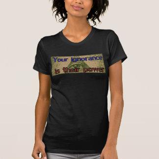 Camiseta Sua ignorância é seu poder