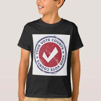 Camiseta suas contagens do voto