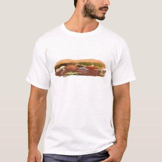 Camiseta Sub do metro da carne da comida do Baguette do