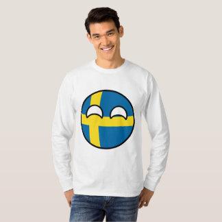 Camiseta Suecia Geeky de tensão engraçada Countryball