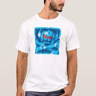 Camiseta Sueco de Camo no azul