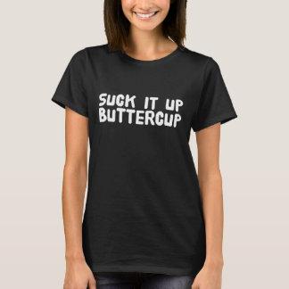 Camiseta Sugue-o acima do botão de ouro