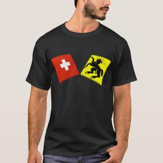 Camiseta Suiça e bandeiras de Schaffhausen