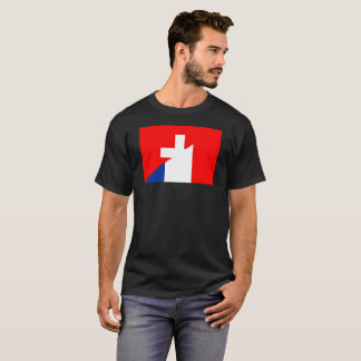 Camiseta suíço do símbolo do país da bandeira de france da
