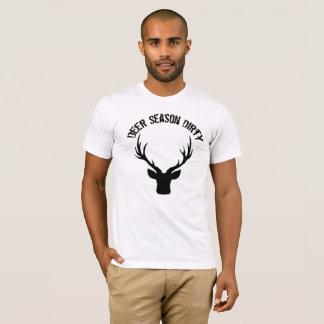 Camiseta suja da estação dos cervos