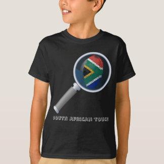 Camiseta Sul - bandeira africana da impressão digital do