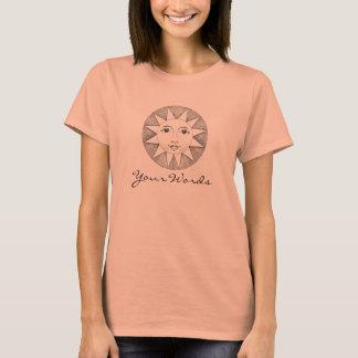 Camiseta Sun com suas palavras, e um escaravelho voado para