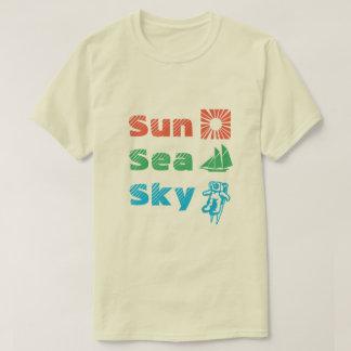 Camiseta Sun, mar, céu