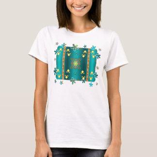 Camiseta Sun no t-shirt do teste padrão da cobertura do