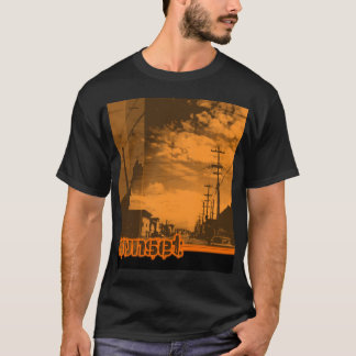 Camiseta sunset7 - no preto
