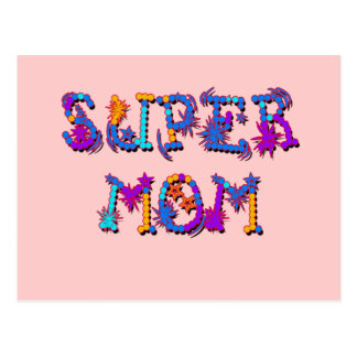 Camiseta SUPER e presentes da MAMÃ do dia das mães Cartão Postal