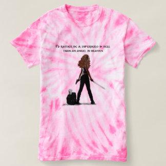 Camiseta SUPER-HERÓI em HELLl (Dani)