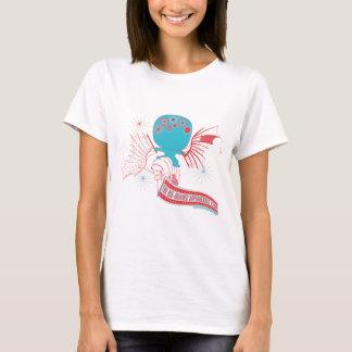 Camiseta Super-herói Grande-Cerebrado da Vinci que voa o