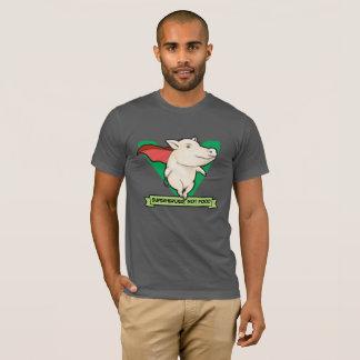 Camiseta Super-herói, não t-shirt do Vegan da comida