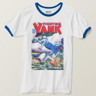 Camiseta Super-herói retro do vintage o arranco da luta