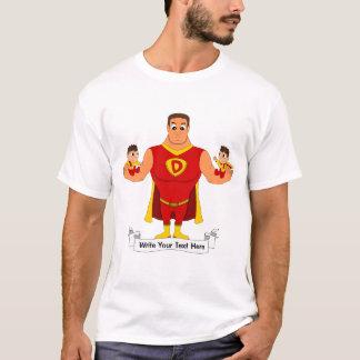 Camiseta Superdad com gêmeos - desenhos animados