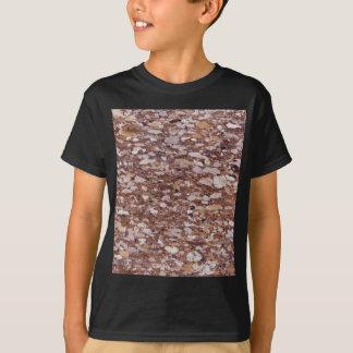 Camiseta Superfície de um arenito vermelho com geods