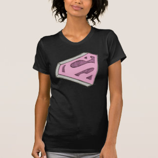 Camiseta Supergirl esboçou o logotipo cor-de-rosa
