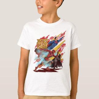 Camiseta Superman da liga de justiça |, flash, & crachá de