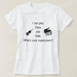 Camiseta Superpotência do piano & da viola