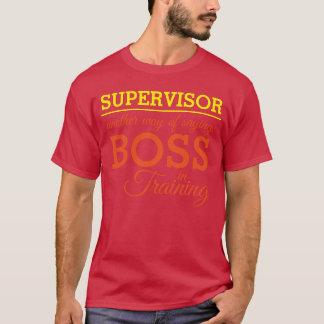 Camiseta SUPERVISOR - chefe no treinamento (editável)