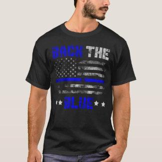 Camiseta Suporte a linha fina azul vidas do azul do apoio