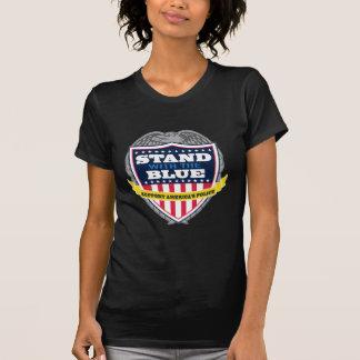 Camiseta Suporte com o T das mulheres azuis