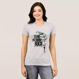 Camiseta Suporte com rocha ereta
