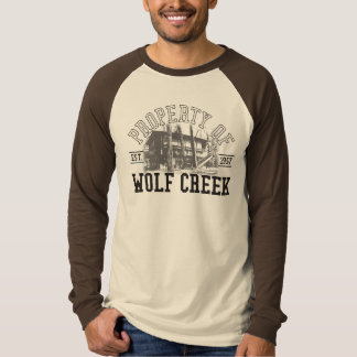 Camiseta Suporte de Wolf Creek - Raglan do LS das canvas