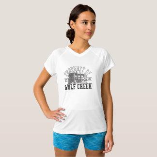 Camiseta Suporte de Wolf Creek - V-Pescoço Dobro-Seco do