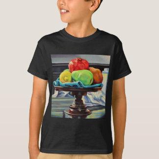 Camiseta Suporte do limão da pera da romã
