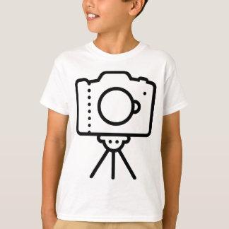 Camiseta Suporte do tripé de câmera