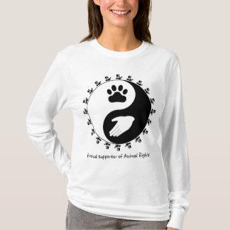 Camiseta Suporte Hoody dos direitos dos animais
