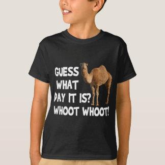 Camiseta Suposição do camelo do dia de corcunda que dia é