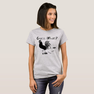 Camiseta Suposição que piada engraçada do bumbum da galinha