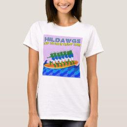 Camiseta Surf de Hilldawgs o mar de rasgos de Drumpf