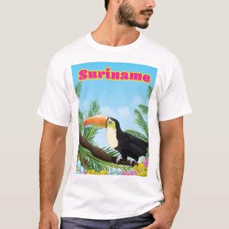 Camiseta Suriname sul - poster de viagens americano do