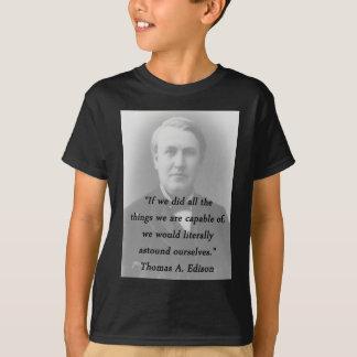Camiseta Surpreenda-se - Thomas Edison