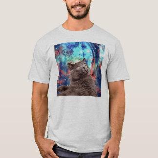 Camiseta Surpresa do gato da galáxia