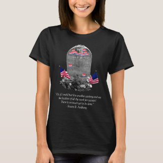 "Camiseta Susan B. Anthony Headstone com ""eu votei"""