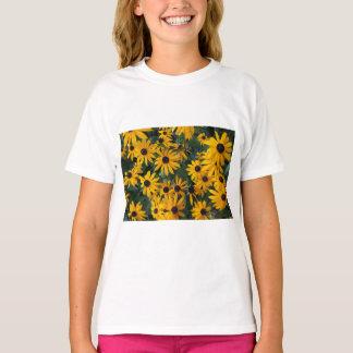 Camiseta Susan de olhos pretos floresce o t-shirt dos